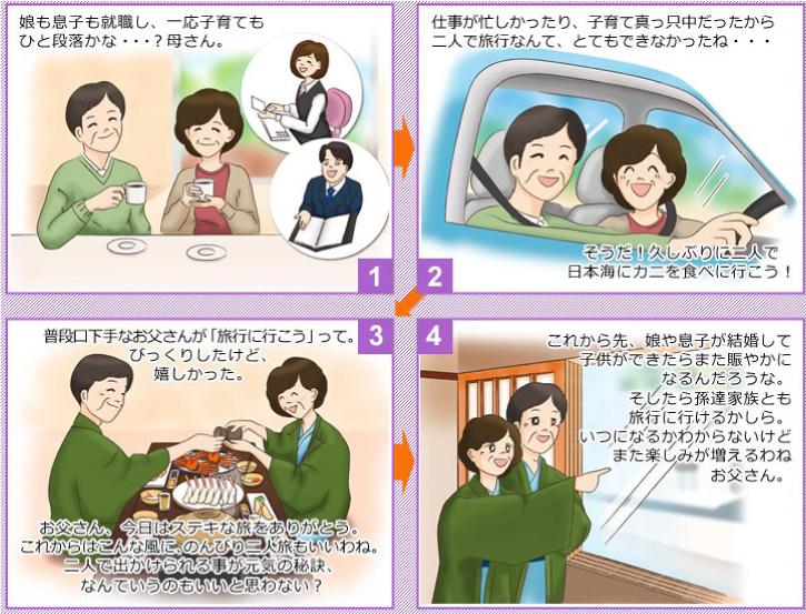 民宿美味し宿かどや おしどり夫婦旅 漫画