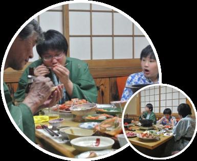 民宿美味し宿かどや 三世代旅行
